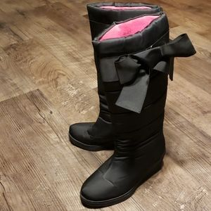 Kate Spade Cagney Quilted Bow Wedge Winter Boot